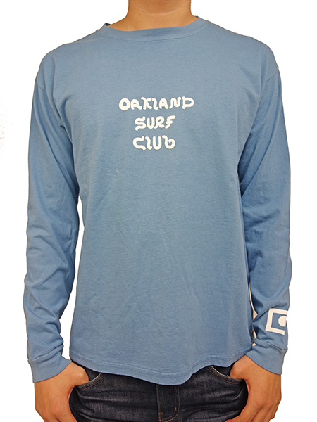 OAKLAND SURF BLACK BALL L/S TEE SEA BLUE