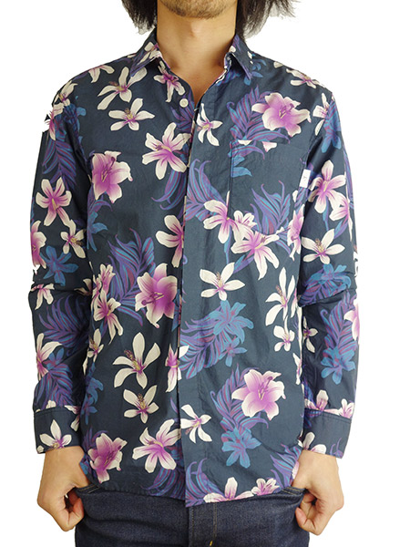BLUEY TYPEWRITER SQUARE L/S SHIRT BOTANICAL
