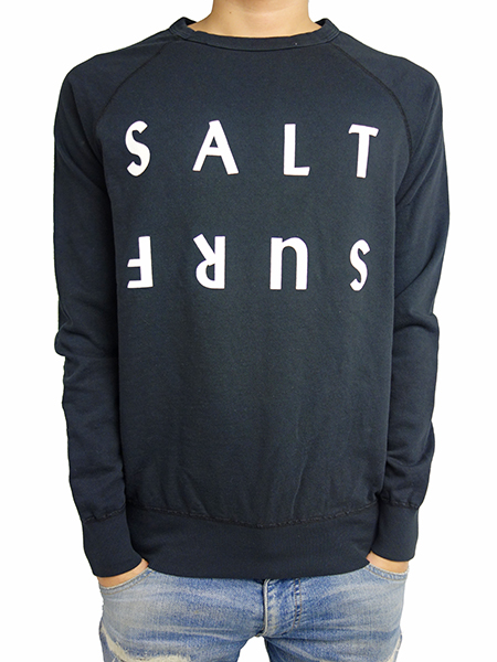 SALT SURF Half reverse SWEATSHIRT Vintage Black/White
