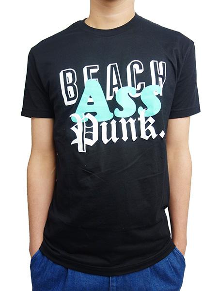 BEACH ASS PUNK MIXED TAPE S/S TEE BLACK