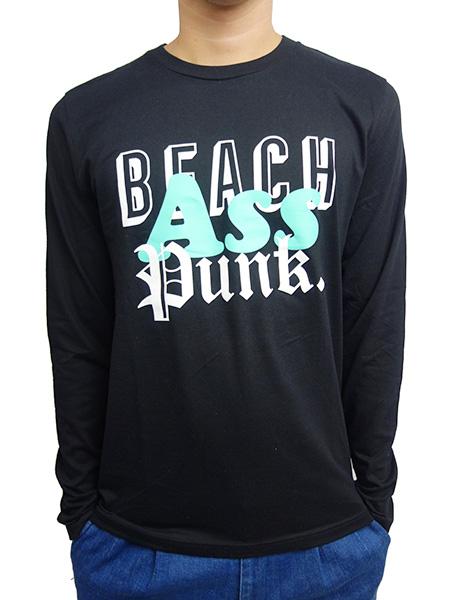 BEACH ASS PUNK MIXED TAPE L/S TEE BLACK
