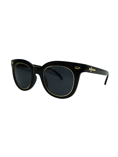 "CRAP EYEWEAR ""The Pop Control"" Gloss Black w Gold Wire Wrapped"