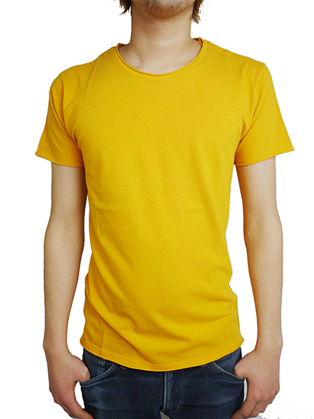 LIFE IS.... ROUGH NECK TEE GOLD
