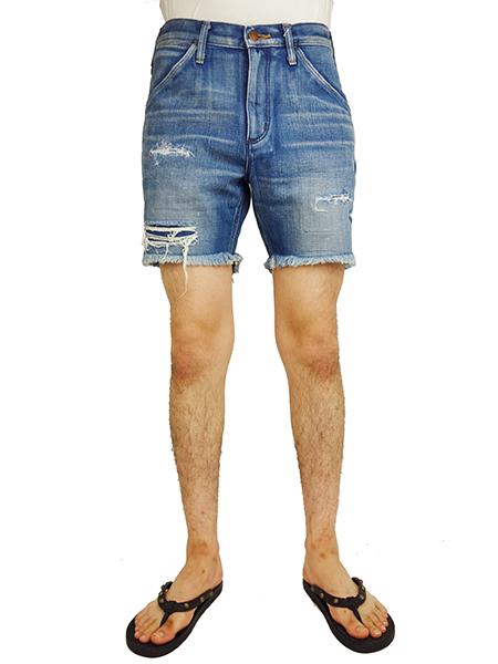 Wrangler Clash Denim Shorts Indigo Dark