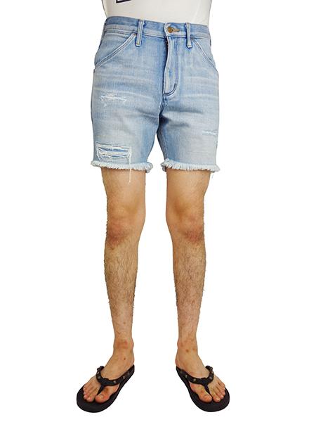 Wrangler Clash Denim Shorts Indigo Light