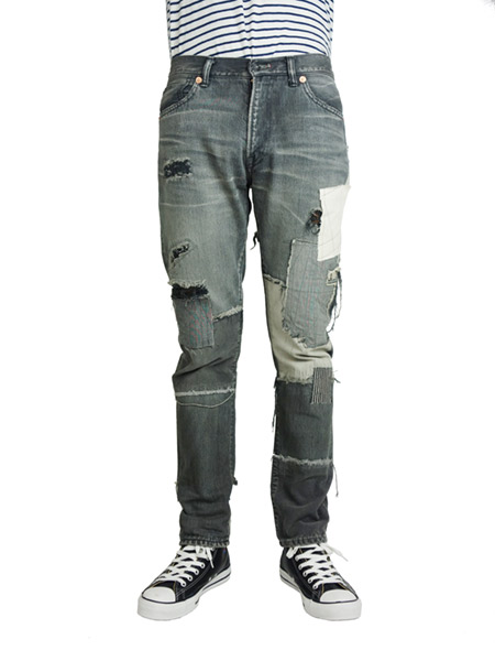 SEVESKIG HARD CRUSH DENIM MODEL -ROKURO- BLACK