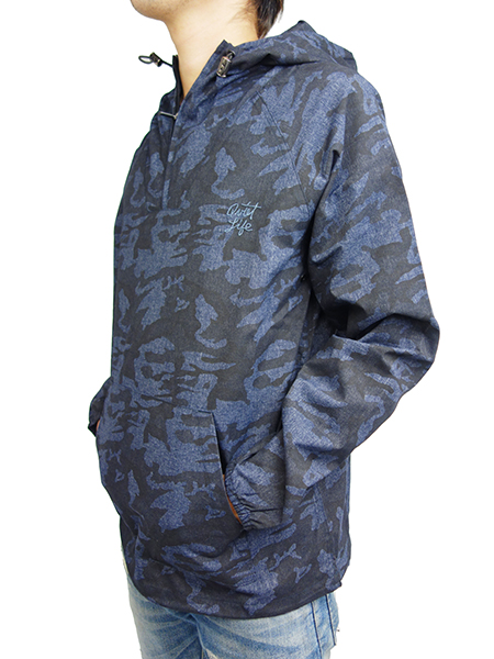 THE QUIET LIFE Camo Windy Pullover Navy