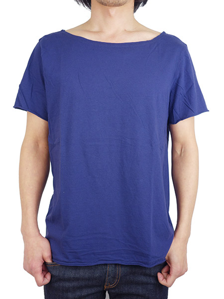LIFE IS.... FLAT NECK TEE N.BLUE