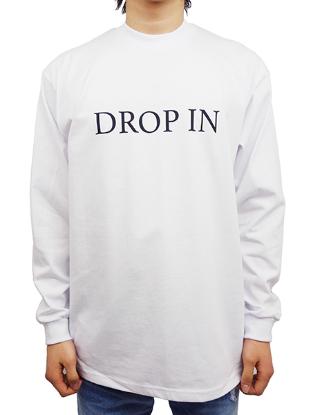 """Toecutter HEAVY WEIGHT L/S TEE """"DROP IN"""" WHITE"""