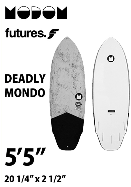 【予約商品】 MODOM DEADLY MONDO 5'5  GREY/BLACK