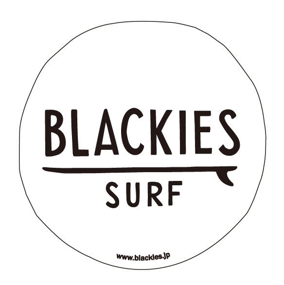 Blackies Surf Logo White