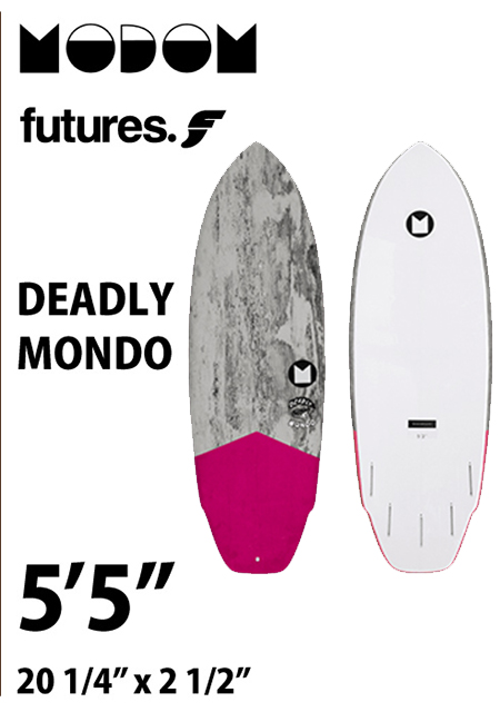 【予約商品】 MODOM DEADLY MONDO 5'5  GREY/PINK