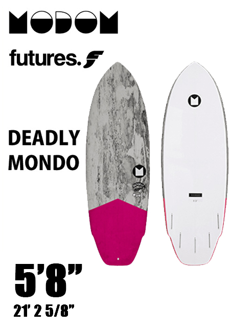 【予約商品】 MODOM DEADLY MONDO 5'8  GREY/PINK