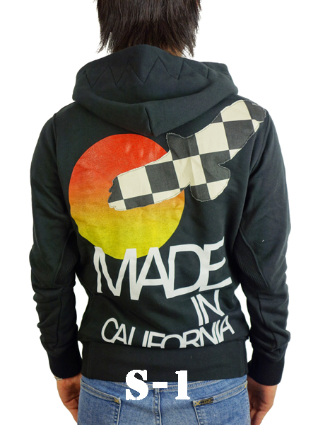 Rolland Berry 別注 Zip Up Hoodie 'Made in California' BLACK