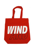 WIND AND SEA TOTE BAG A RED