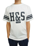 HIDE AND SEEK Football S/S Shirt WHITE