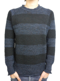 Toecutter Feather Knit Deep Crew L/S BLACK/NAVY