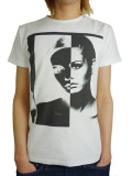Rolland Berry BLACK WHITE 1960s TEE WHITE