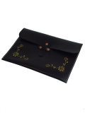 HTC BLACK DOCUMENT CASE FLOWER BLACK×BRASS