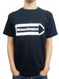 "MenaceStandard S/S TEE ""One Way"" BLACK"