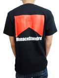 """MenaceStandard S/S TEE """"Marl"""" BLK/RED"""