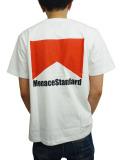 "MenaceStandard S/S TEE ""Marl"" WHT/RED"