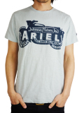 Johnson Motors Inc. S/S TEE ARIEL SIGN SKY BLUE