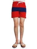 ALOHA BEACH CLUB TUCKER SHORTS RED/NAVY