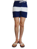ALOHA BEACH CLUB TUCKER SHORTS NAVY/WHITE