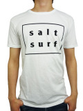 SALT SURF LOGO TEE WHITE