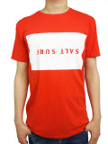 SALT SURFUPSIDE DOWN TEE RED