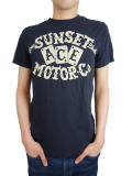 Johnson Motors Inc. S/S TEE SUNSET MOTOR Co NIGHT SHADE