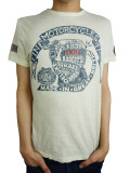Johnson Motors Inc. S/S TEE ARIEL ENGINE DIRTY WHITE