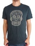 Johnson Motors Inc. S/S TEE INK SKULL Oiled Black