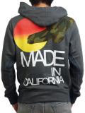 Rolland Berry ZIP UP HOODIE California Camo Bird H.GRAY