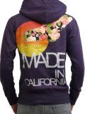 Rolland Berry ZIP UP HOODIE California Flower Bird PURPLE