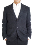 "Battalion GRUNGY WOOL JACKET ""J"" BLACK"