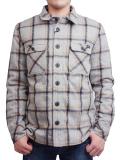 "SURREAL ""SAKU"" Quilting Flannel Shirt Jacket GRAY"