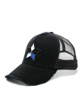 StarLean★ 5パーツ刺繍メッシュキャップ(BLUE) BLACK