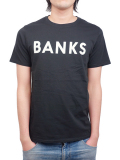 BANKS CLASSIC TEE SHIRT DIRTY BLACK