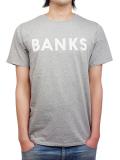 BANKS CLASSIC TEE SHIRT HEATHER GRAY