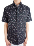 ALOHA BEACH CLUB S/S SHIRT ABIGAIL BLACK FLORAL