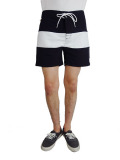 ALOHA BEACH CLUB TUCKER SHORTS BLACK/WHITE