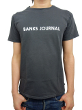 BANKS LABEL TEE SHIRT DIRTY BLACK