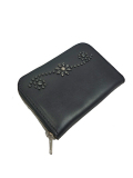 HTC BLACK ZIPPER MIDIUM WALLET 25 UMBRELLA BLACK