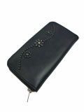 HTC BLACK ZIPPER LARGE WALLET 25 UMBRELLA BLACK