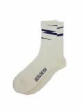 Birvin Uniform Thunder  Line Socks WHITE/NAVY