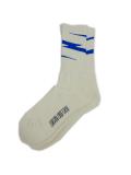 Birvin Uniform Thunder  Line Socks WHITE/BLUE