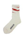 Birvin Uniform Thunder  Line Socks WHITE/RED