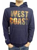 WEST Photo Logo Indigo Hooded Sweatshirt